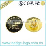 Car Club Gold Zinc Alloy Button Pin Badge