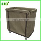Washable Commercial Laundry Cart, Laundry Hamper Trolley                                                                         Quality Choice