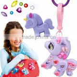 children gift souvenir kids lovely plastic glitter animal keychains keyring gift & crafts
