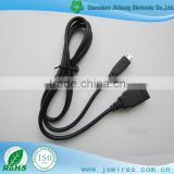 Micro 5P B Male to USB 2.0 Female cable Black OTG Cable for android mobile phone On The Go Adapter