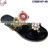 CSB6147(49-60) The newest design and different style of the slipper with stones and beads very fashionable
