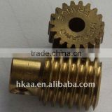 OEM Brass small shaft and gear ,precision rack and pinion gear brass worm gear,bronze gear,gold plating gear