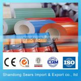 chinese good manufacture export color coated roofing sheet/color coated steel sheet machine/color coated sheet