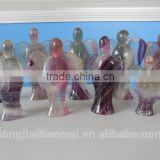 Wholesale Quartz Crystal Angels Sale / Natural Flourite Carving Angels/natural energy crystals angel figurine
