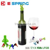 Silicone man shape bottle cap wine stopper