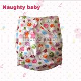 2015 hot sale cartoon print Baby pocket cloth diapers, Eco friendly baby nappy