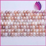High quality AAA Grade natural 8.0-9.0mm mix color nearly round freshwater pearl