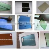 Building glass tinted (bronze&green&blue&grey)reflective float glass with BV & ISO