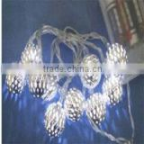 Ball light chain with rhinestone surface (10 lights)
