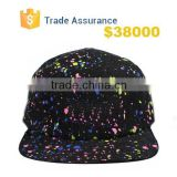 Galaxy 5 Panel Hat Printed , 5-Panel Hat Printed Pattern 5 Panel Strap Back Caps , Galaxy Space Black Leather Strap Hats