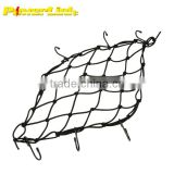 H70234 40 X 40 cm Back Seat Cargo Gas Fuel Tank Net Web Baggage Carrier Helmet Mesh For Honda Yamaha Kawasaki Suzuki BWM Black