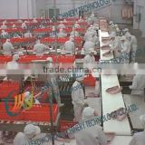 frozen poultry dividing production line for meat, port, beef