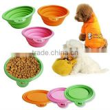silicone collapsible travel bowls for your dog&silicone pet bowl&silicone container
