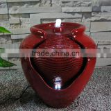 Outdoor Classics Designer Floor LED Water Feature