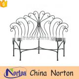 iron furniture design peacock bench from Norton factory NTIRH-021Y
