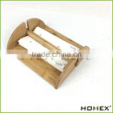 Bamboo Paper Holder with Center Bar Weighted Arms Homex BSCI/Factory
