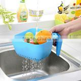 Plastic square Vegetable fruit Strainer Draining Basket with Handle