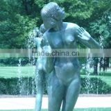 bronze casting foundry garden statues life size woman body sculpture