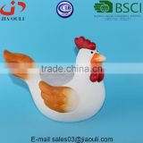 BSCI Audit Factory Lovely EASTER decorations ceramic rooster flower pot, animal plant pot pot