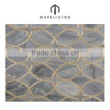Inquiry about art stylish marble inlay metal flooring design mosaic