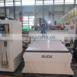 Hot!! auto change tools wood carving cnc machine for wood door making in size 1300*2500mm with ISO9001:2000