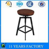 Metal Black Height Adjustable Swivel Indoor And Outdoor Bar Stools On Sale