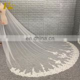 2017 Wholesale Latest Wholesale Lace Applique 1 Layers Long Cathedral Wedding Veil