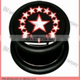 Pentagram black acrylic crazy UV ear fake plugs wholesale cheaper cheater body piercing jewelry