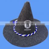 Costumer bavarian felt hat with germany flag logo and cord