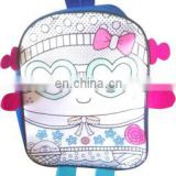 DIY painting fashion backpack bag for kids with color markers