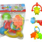Baby Infant and Toddler Rattles Teether Holder Play Set