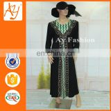 Hot Sale Latest African Designs Rayon Women Abaya Muslim Women Islamic Clothes Caftan For Moroccan