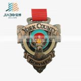 Antique copper plated Animal sport commemorative 3d medal