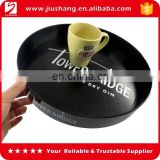 Custom design large round non-slip plastic serving tray
