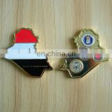 custom shape stamped metal challenge coin for souvenir