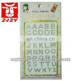 Eco-friendly Cell Phone Alphabet Jewelry Sticker(ZY2-039)