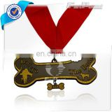 Bone shape dog medal