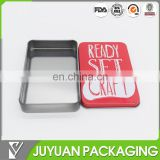 wholeslae rectangular empty printed tinplate tin cans with lid