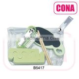 5pcs Travel kit(enail clipper,nail brush,sandpaper foot file,woodewn sticker,toe separator))