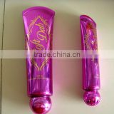 Hot Stamping Cosmetic tube for Sun Screen,cosmetic packaging plastic tube,cosmetic containertransparent plastic packaging,