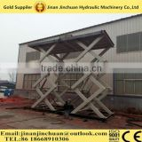 electric guide rail type hydraulic scissor lift platform for the goods lifting mostly used in the building