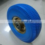 metal steel rim 3.50-4 pu foam wheel / pu foam tyre