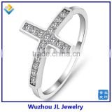 Wholesale Price Latin Cross CZ Stone Decorated 925 Sterling Silver Rings