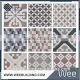Hot sales product cement gray color and various pattens hand painted wall tiles