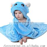 Customized terry cotton baby hooded towel and kids bathrobe from China