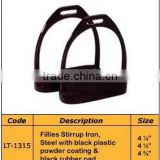 Fillies Stirrup Iron, Steel with black plastic powder coating, Horse Stirrups- Horse Ridding Products
