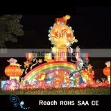 New Outdoor Fabric Chinese colorful metal lanterns for sale mid-autumn festival decoration
