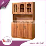 Foshan asia style rose wood cupboard storage design cheap restaurant pvc wooden kitchen cabinet