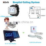 Wireless nurse calling system K-4-Cblue receiver K-300plus watch pager K-W2-H transmitter