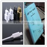 OEM black white gold logo printing retail package with micro cable US EU plug 5v 1.5a wholesale usb wall charger for iphone